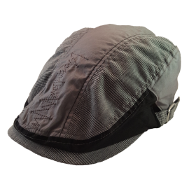 U7-U ZIG (GLEN PLAID) FLAT CAP