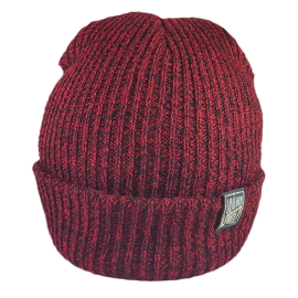 SIMPLY U7! SKULLY HAT (RED/BLACK KNIT)