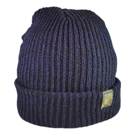 SIMPLY U7! SKULLY HAT (BLUE/BLACK KNIT)
