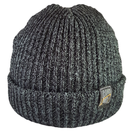 SIMPLY U7! SKULLY HAT (GREY/BLACK KNIT)