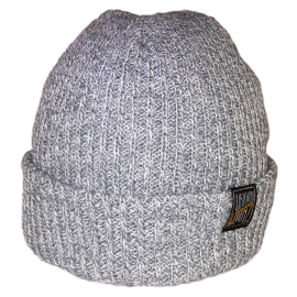 SIMPLY U7! SKULLY HAT (GREY/WHITE KNIT)