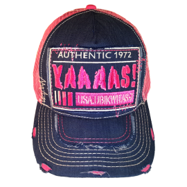 U7 YAAAAS! CAP (DENIM AND PINK)