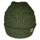 SIMPLY U7! SKULLY HAT (FOREST GREEN/BLACK KNIT)