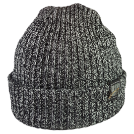 SIMPLY U7! SKULLY HAT (BLACK/WHITE KNIT)
