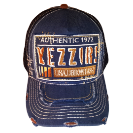 U7 YEZZIR! CAP (DENIM AND BROWN)