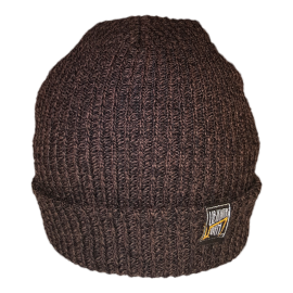 SIMPLY U7! SKULLY HAT (BROWN/BLACK KNIT)